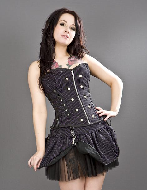 Corset Rock Purple Stripes
